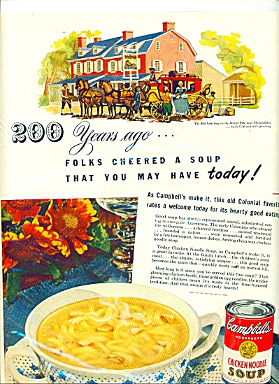 Campbell's chicken noodle soup ad (Image1)