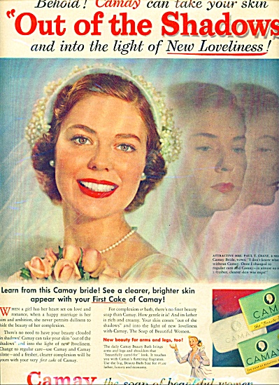 1951 CAMAY SOAP AD Mrs. Paul Crane (Image1)