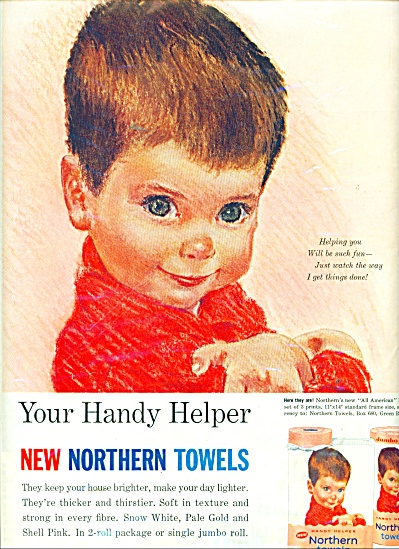 1963 CUTEST BOY Northern Towels AD (Image1)