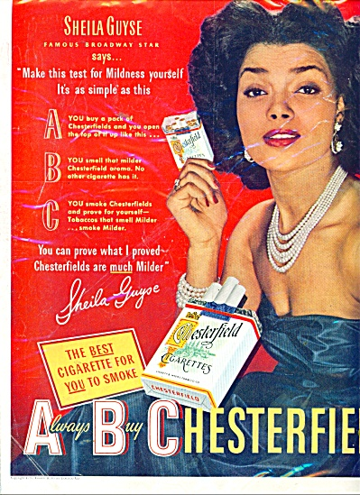 Chesterfield cigarettes - SHEILA GUYSE  ad (Image1)