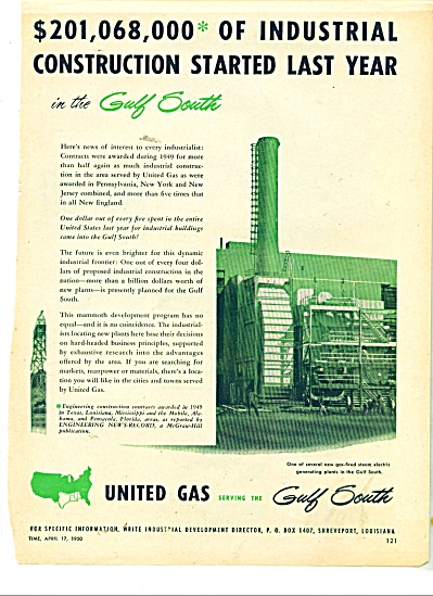 United Gas serving the Gulf south ad 1950 (Image1)