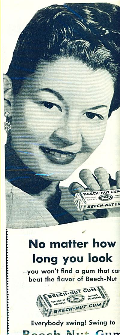 Beech Nut gum ad 1950 (Image1)