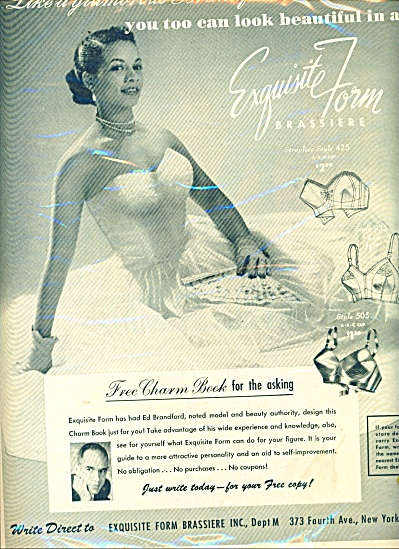 1950 African American Exquisite Bra Ad From