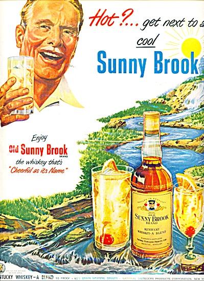 Sunnybrook brand Kentucky whiskey ad 1950 (Image1)