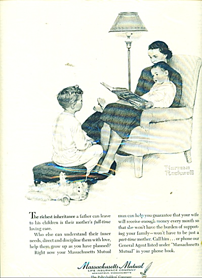 NORMAN ROCKWELL Mass Mutual Life Insurance AD (Image1)