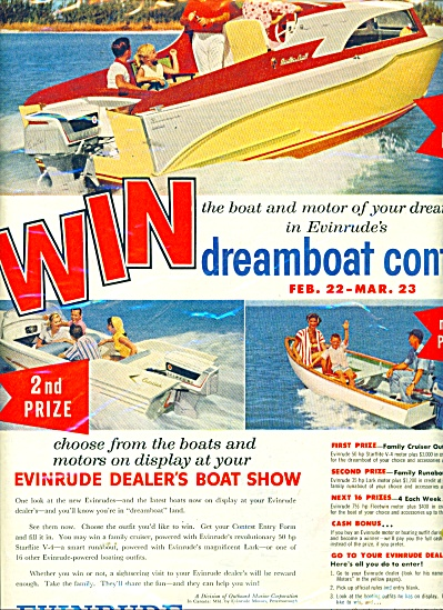Evinrude outboard motors ad 1958 (Image1)
