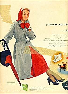 1950 White Sewing AD SIMPLICITY DRESS - COAT (Image1)