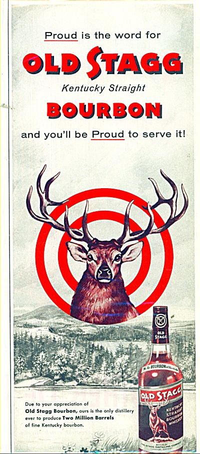 Old Stagg bourbon ad 1955 (Image1)