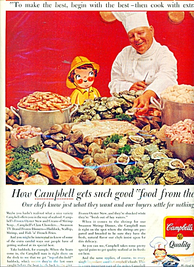 1964 Campbell's SOUP AD CHEF - CLAMS (Image1)