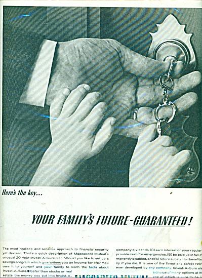 Maccabees Mutual Life Insurance company ad (Image1)