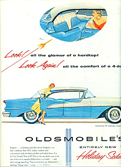 1955 Oldsmobile Holiday Sedan Ad 1955