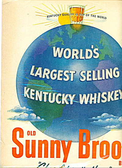 Old Sunny Brook Brand Whiskey Ad 1951
