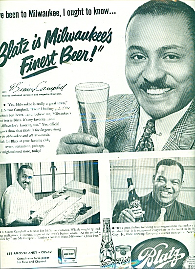 Blatz Beer - JIMMY CAMPBELL  ad 1951 (Image1)