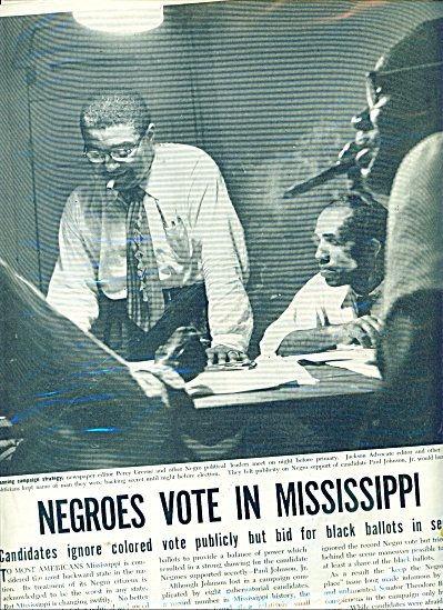 1951 EXPOSE NEGROES VOTE IN MISSISSIPPI (Image1)