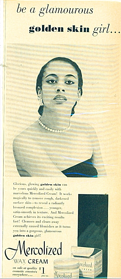 1951 Mercolized Wax Cream AD Black Model (Image1)
