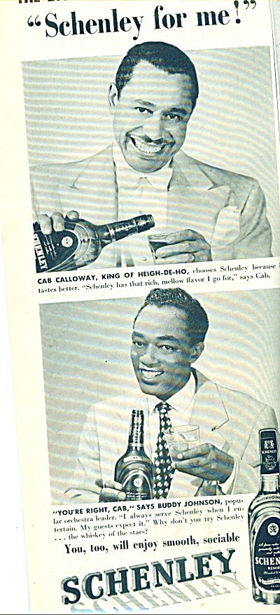 1951 Schenley whiskey ad CAB CALLOWAY +++ (Image1)