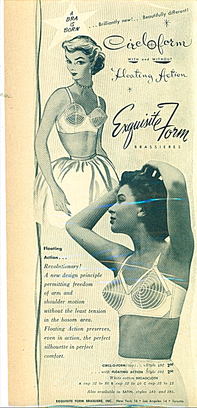 1951 BLACK MODEL Exquisite FORM BRA AD (Image1)