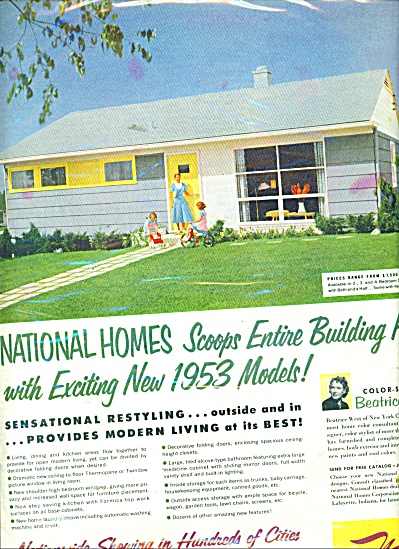 1952 National Homes AD Retro Home Design (Image1)