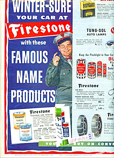 Firestone winter sure products ad 1952 (Image1)