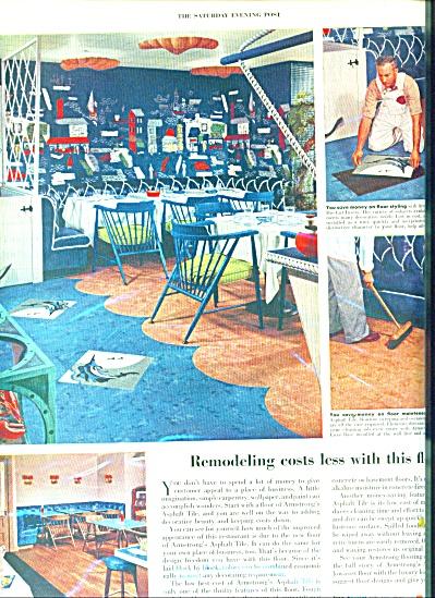 1952 ARMSTRONG TILE NAUTICAL Design AD (Image1)