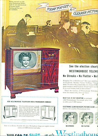 Westinghouse television ad 1952 (Image1)