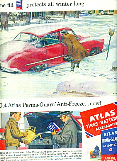 Atlast tires - batteries-anti freeze ad 1952 (Image1)