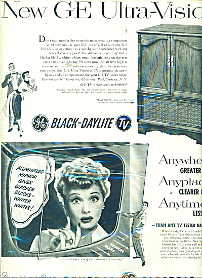 General Electric television - LUCILLE BALL (Image1)