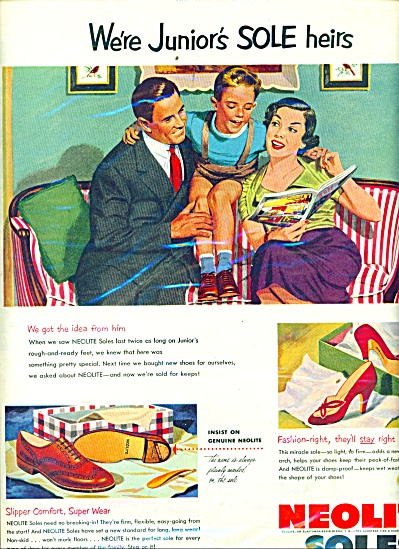 Neolite soles for shoes ad 1952 (Image1)