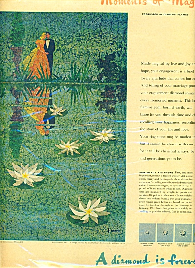1961 DeBeers A diamond  forever AD HARRIS ART (Image1)