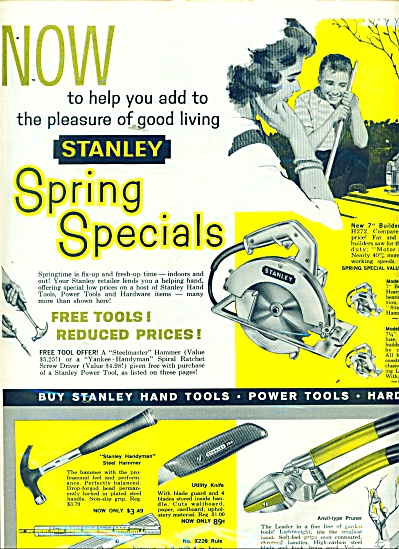 Stanley Hardware products ad 1961 (Image1)