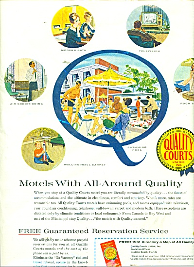Qualitry Courts Motels ad 1961 (Image1)