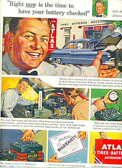 Atlas tires,batteries and accessories ad 1951 (Image1)