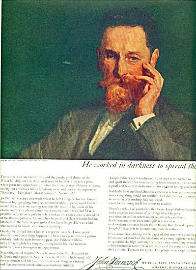 1951 JOHN HANCOCK LIFE INSURANCE AD Sargent (Image1)