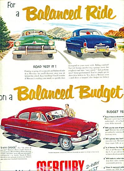 1951 Ford MERCURY Auto PROMO AD (Image1)