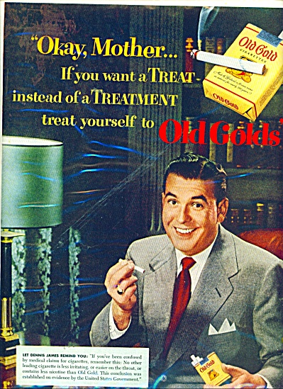 Old Golds cigarettes - DENNIS  JAMES - ad (Image1)