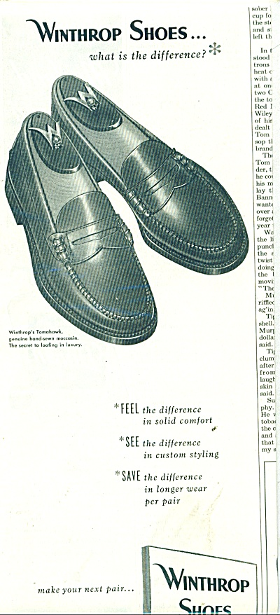 Winthrop Shoes Ad 1951