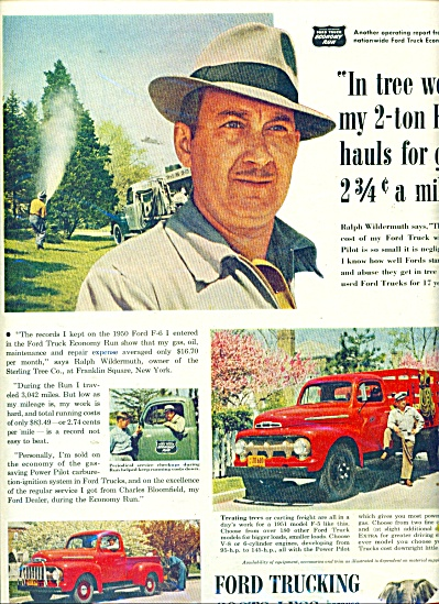 1951 FORD TRUCK AD Sterling Tree NY (Image1)