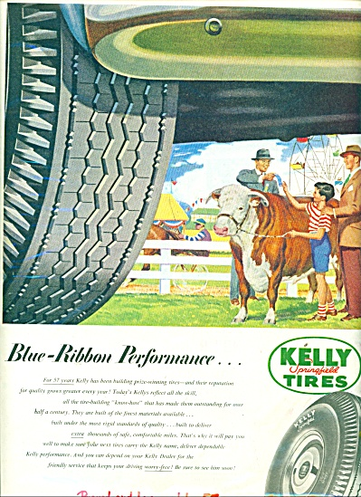 Kelly Springfield Tires Ad 1951