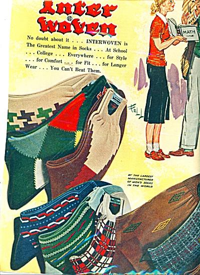 Inter woven socks ad 1951 (Image1)