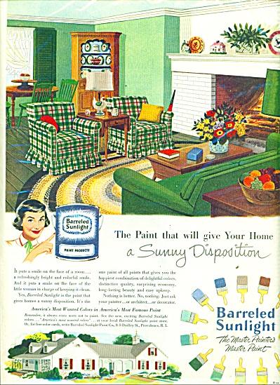 Barreled Sunlight ad 1951 (Image1)
