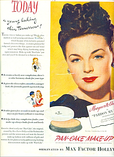 1945 Max Factor Pan cake make up - M.CHAPMAN (Image1)