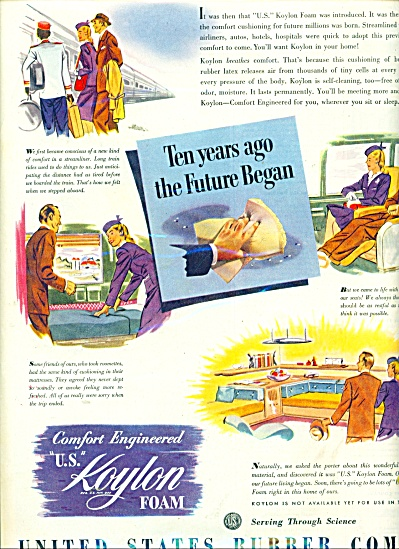 1945 US Rubber Co KOYLON Foam AD THE FUTURE (Image1)