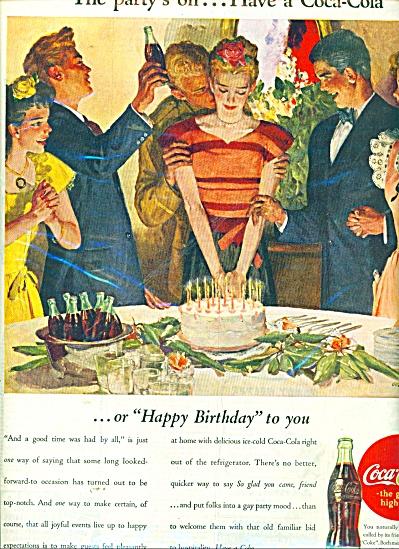 1045 COKE COCA COLA Happy Birthday Party AD (Image1)