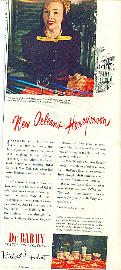 1945 DuBarry BEAUTY AD Miss MIKAL Jones (Image1)