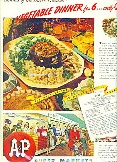 A & P super markets ad 1945 (Image1)