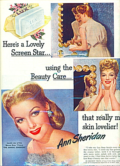 Lux Toilet soap - ANN SHERIDAN - ad 1945 (Image1)