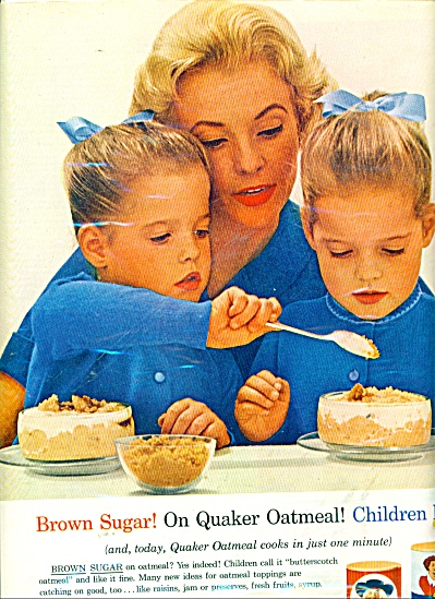Quick Mother Quaker OATS AD Twin Girls CUTE (Image1)