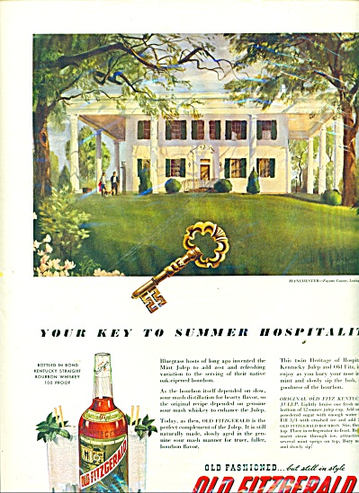 1952 Old Fitzgerald Whiskey Ad Manchester Ky