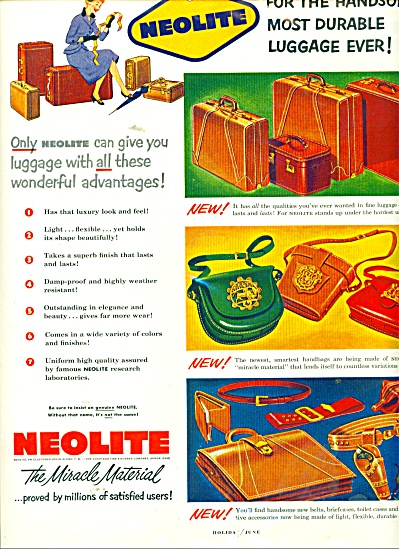 1962 NEOLITE Luggage Purse Miracle Material A (Image1)