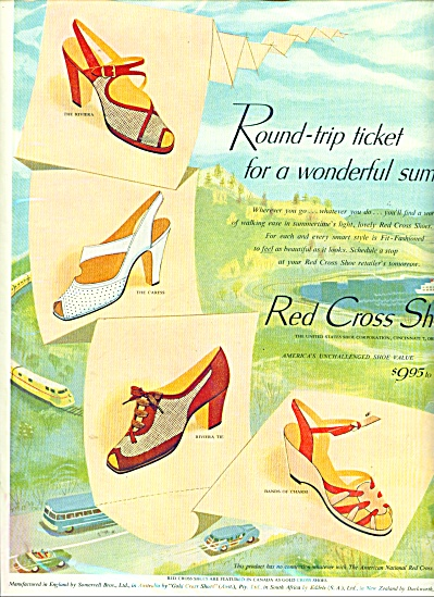 Red Cross shoes ad  1952 (Image1)